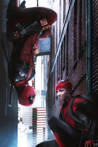 750x1334 Deadpool And Spiderman 4k