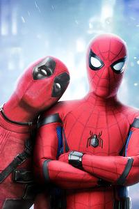 Deadpool And Spiderman Art