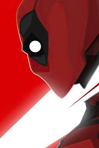 480x854 Deadpool Artwork 2020 Minimal