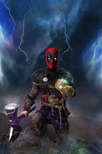 1440x2960 Deadpool Artwork 4k 2020