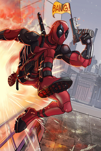 1080x2280 Deadpool Away From Attack