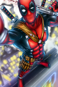 Deadpool Clicking Selfie