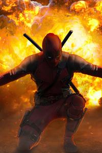 1280x2120 Deadpool Cover Art 4k