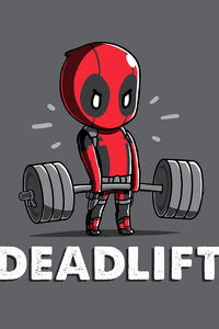 1242x2688 Deadpool Deadlift Funny 8k