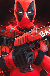 480x854 Deadpool Gun Up