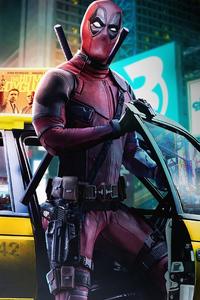 2160x3840 Deadpool In City 4k