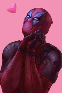 750x1334 Deadpool In Love 4k