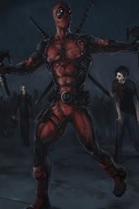 Deadpool Killing Zombies