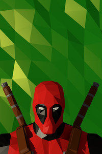 Deadpool Low Poly Artwork