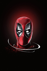 240x400 Deadpool Mask Minimalism 5k
