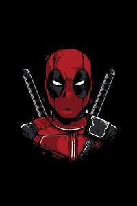 1280x2120 Deadpool Minimal 8k