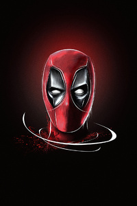 Deadpool Minimal Art 4k