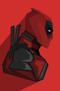 Deadpool Minimalism 4k