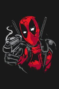 1242x2688 Deadpool Minimalism 5k