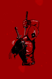 Deadpool Minimalist 4k