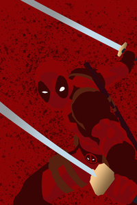 Deadpool Minimalist Background 4k