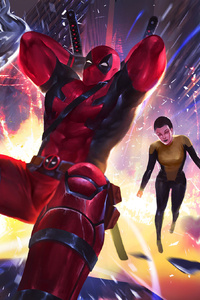 Deadpool Negasonic Colossus Artwork