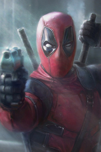 1080x2160 Deadpool New Art4k