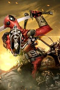 360x640 Deadpool On Bike