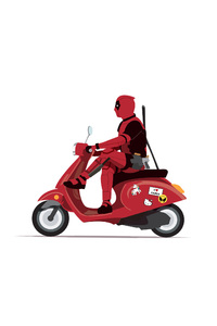 750x1334 Deadpool On Scooter