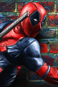 Deadpool Painting On The Wall
