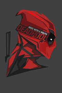 Deadpool Pop Up Head Minimalism 8k