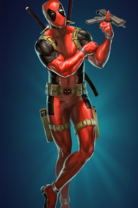Deadpool Revolving Guns
