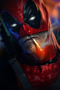Deadpool Smoking Cigarette