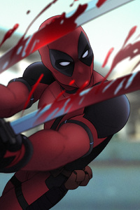 Deadpool Sword Artwork