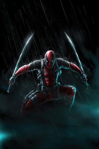 1280x2120 Deadpool Sword Hero 4k
