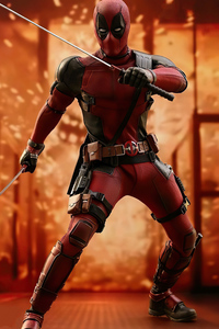 640x1136 Deadpool Sword Hero