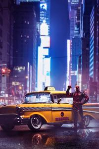 320x480 Deadpool Taxi 4k