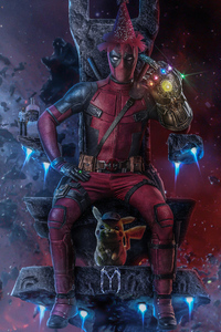 540x960 Deadpool Thanos Infinity Gauntlet