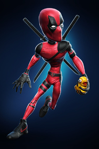 Deadpool Wearing Nike Shoes Holding Duck Toy