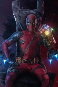 Deadpool With Infinity Gauntlet