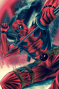 Deadpool With Sword And Gun