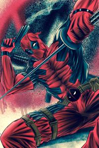240x400 Deadpool With Sword And Gun