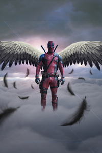 640x1136 Deadpool With Wings