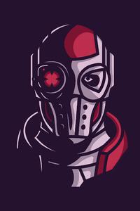 1440x2560 Deadshot Face Minimal 4k