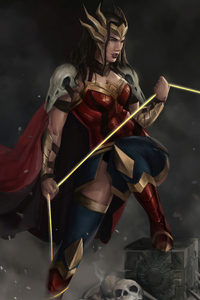 320x480 Death Metal Wonder Woman