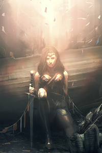 1242x2688 Death Of Wonder Woman