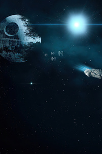 1280x2120 Death Star Planet Star Wars