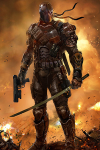 640x1136 Deathstroke Gun And Sword