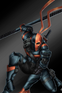 1080x2280 Deathstroke Illustration