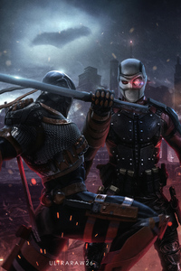 480x854 Deathstroke Vs Deadshot 4k