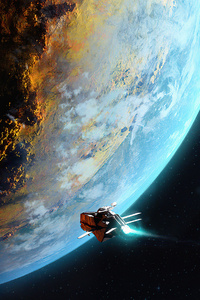 Deep Space Scout Ship 4k