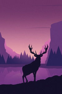 Deer Digtial Vector Art 5k