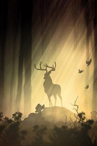 Deer Fantasy Forest