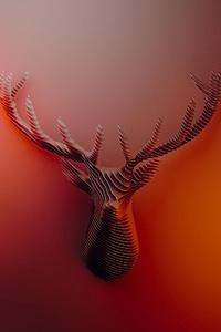 Deer Horns Abstract 4k