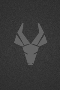 Deer Logo Dark Minimalism 4k